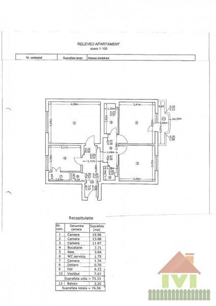 Apartament 3 camere de vanzare Oltenitei - Paduroiu